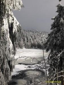 der zugefrorene Mummelsee ... romantisch, oder?