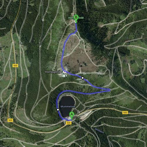 Mummelsee - Hornisgrinde - GoogleMaps